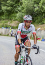 The cyclist yukiya arashiro chorges france july japanese from europcar team pedaling during stage of th edition of le tour de Royalty Free Stock Photography