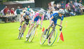 Cyclistes emballant chez Strathpeffer. Photographie stock