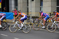 Cyclists ・ de pologne浏览 免版税图库摄影