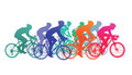 Cyclists in bike race Royalty Free Stock Photo