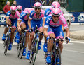 Cyclists in giro d'italia Royalty Free Stock Image