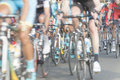 Cyclists, motion blur Royalty Free Stock Photo