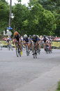 Cyclists race for lead at uptown minneapolis united states june pro criterium in minneapolis it is stage four of the prestigious Royalty Free Stock Photography