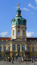 Cyclists at schloss charlottenburg in berlin germany Royalty Free Stock Photo