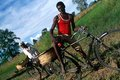 Cyclists, Uganda Royalty Free Stock Photo