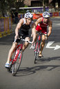 Cyclists at the Youth Olympic Games Royalty Free Stock Photo