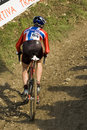 Cyclo-cross competitor Royalty Free Stock Photo