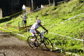 Cyclocross at Acquedotti Cinecitta Royalty Free Stock Photo