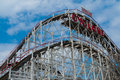 Cyclone view of the famous at coney island nyc Stock Photography