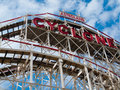 Cyclone view of the famous at coney island nyc Royalty Free Stock Photography