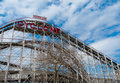 Cyclone view of the famous at coney island nyc Royalty Free Stock Images
