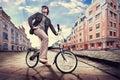 Cyklista w mieście