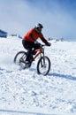Cyklistsnow Royaltyfri Bild