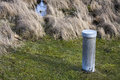 Cylinder container metal in nature Royalty Free Stock Photo