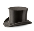 Cylinder hat beautiful black isolated on white Royalty Free Stock Photo