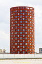 Cylindrical Apartments Tower Stock Photography