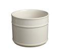 Cylindrical flower pot isolated on white background Royalty Free Stock Image