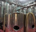 Cylindrical Stainless Steel Tanks Used in Winemaking