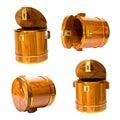 Cylindryczny drewniany odosobniony Zdjęcie Royalty Free