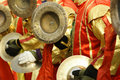 Cymbals team Stock Photos