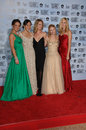 Cynthia Watros,Emilie de Ravin,Evangeline Lilly,Maggie Grace,Yunjin Kim,Emily de Ravin Royalty Free Stock Photo