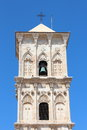 Cypriot Church Bell tower against blue sky Royalty Free Stock Photo