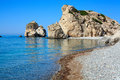 Cyprus beach of aphrodite in Royalty Free Stock Photos