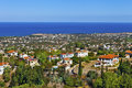 Cyprus landscape areal view of seaside Royalty Free Stock Image