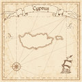 Cyprus old treasure map.