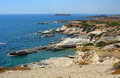 Cyprus rocky coastline next to pafos Stock Photo