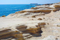 Cyprus rocky coastline next to pafos Stock Images