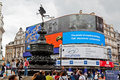 Cyrkowy England London piccadilly Fotografia Royalty Free
