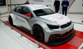 Cytroen c elysee wtcc geneva th salon de lauto star of the citroen stand is the brand new car the french manucafturer will use to Royalty Free Stock Photos