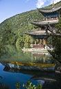 Czarny smoka lijiang basen Fotografia Royalty Free