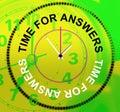 Czas dla odpowiedzi reprezentuje know how pomoc i asystę Obraz Stock