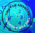 Czas dla odpowiedzi wskazuje know how asystę i informację Zdjęcia Stock