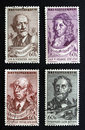 Czech composers on stamps Royalty Free Stock Photo