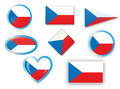 Czech flag for different use by designers and printers Stock Image