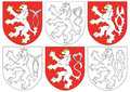 Czech lion and similar blazons Royalty Free Stock Photo