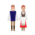 Czech national costume illustration of dress on white background Royalty Free Stock Photography