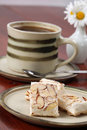 Czech nougat and coffee Royalty Free Stock Images