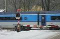 Czech Railway Crossing At Wint...