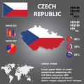 Czech republic country infographics template vector Royalty Free Stock Photo