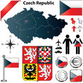 Czech Republic map Stock Photos