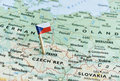 Czech republic map flag pin Royalty Free Stock Photo