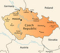 Czech Republic political map Royalty Free Stock Images