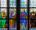 Czech Republic, Prague: stained glass Stock Photo