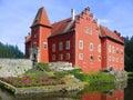 Czech republic, Red Castle Stock Photography