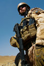 Czech soldier in Afghanistan Stock Image