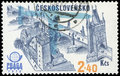 Czechoslovakia Postage stamp Royalty Free Stock Photo